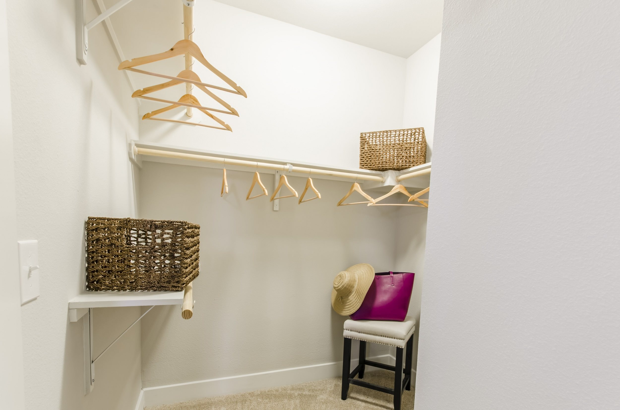 Walk-In Closets at Touchstone Modern Apartment Homes, 11996 Ridge Parkway, Broomfield
