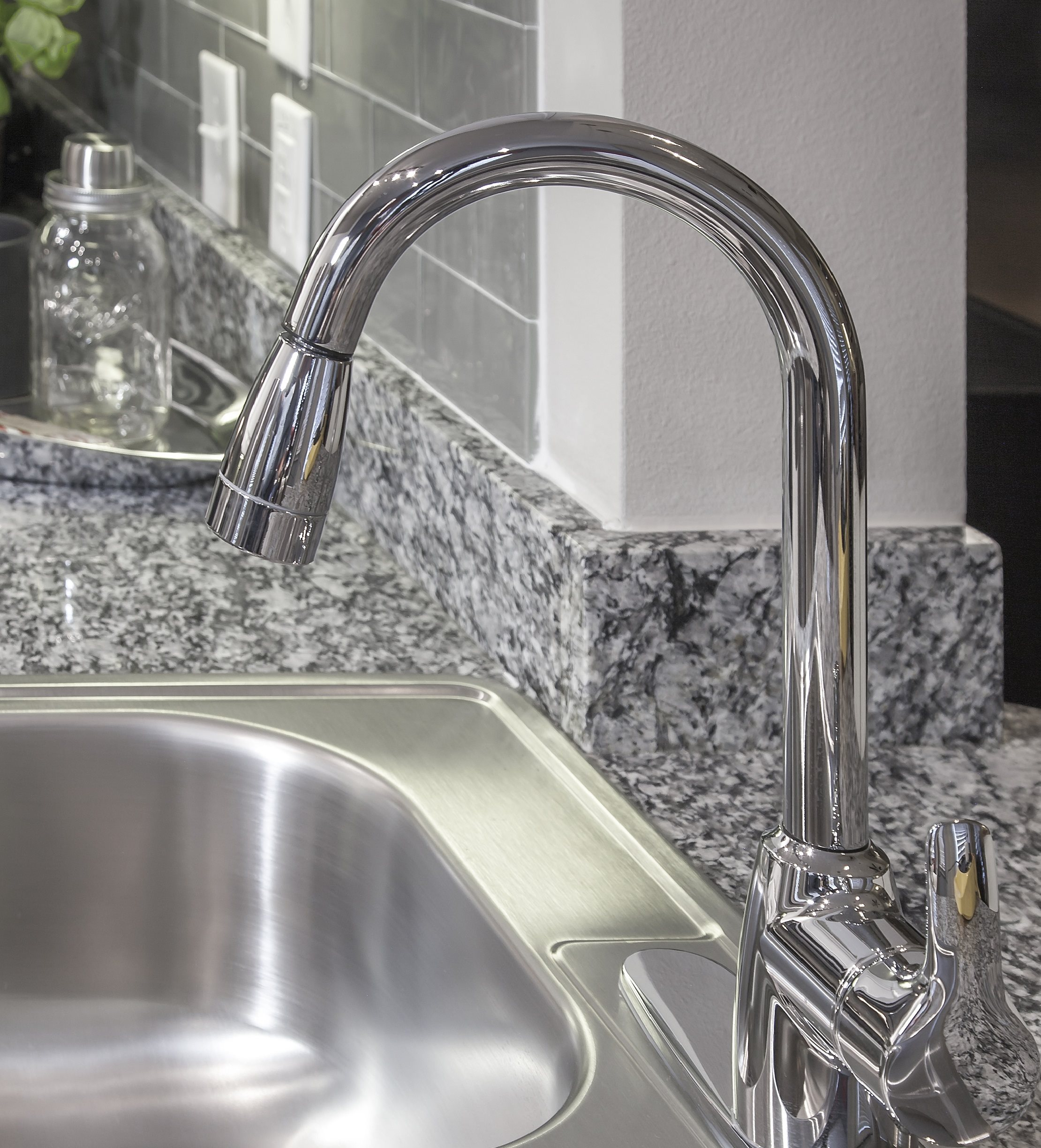 Goose neck faucet at Touchstone Modern Apartment Homes, 11996 Ridge Parkway, CO