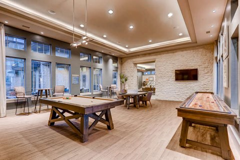 Game Room with Billiards, Shuffleboard, and Poker