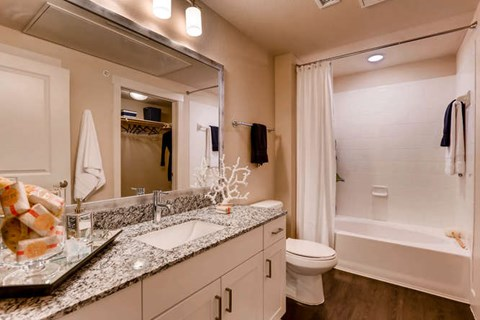 Bathrooms with Undermount Sinks and White Cabinetry