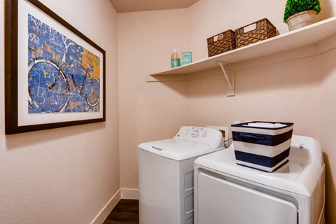 Full-Size Washer/Dryer in Laundry Room