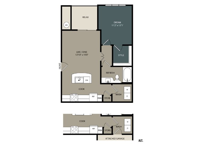 A1 Floor Plan at Touchstone Modern Apartment Homes, Broomfield, 80021