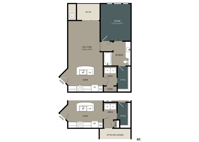 A2 Floor Plan at Touchstone Modern Apartment Homes, 11996 Ridge Parkway, Broomfield, CO
