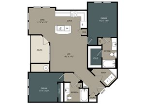 B2 Floor Plan at Touchstone Modern Apartment Homes, 11996 Ridge Parkway, CO