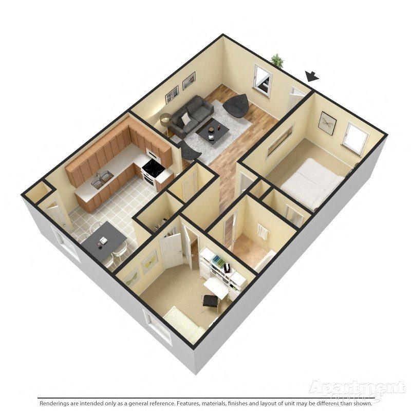 2 BED Floor Plan 3