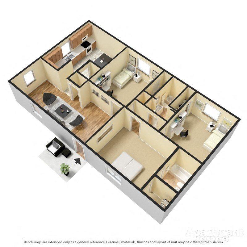 3 BED Floor Plan 6