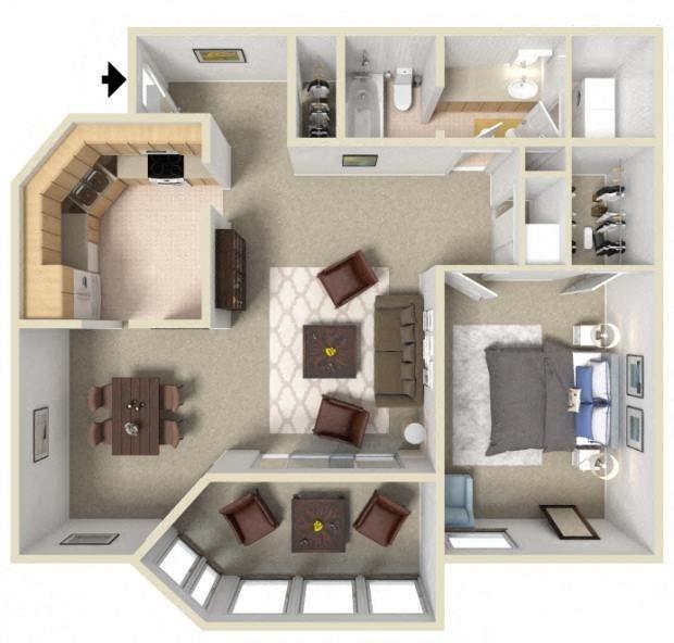 floorplan  A1 1 bedroom