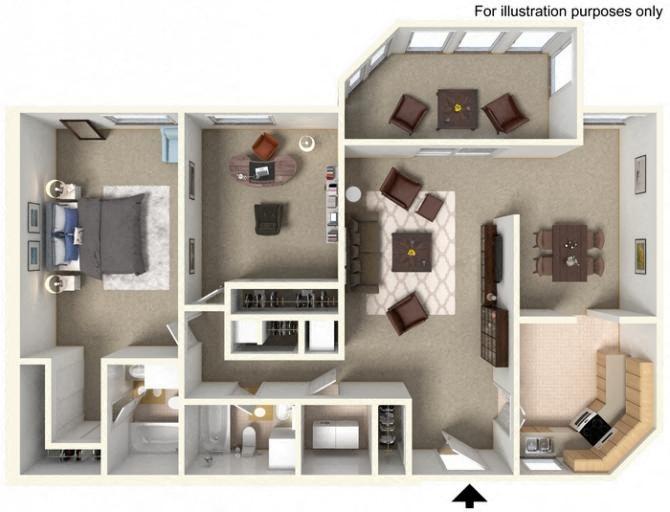 floorplan  B1 2 bedroom