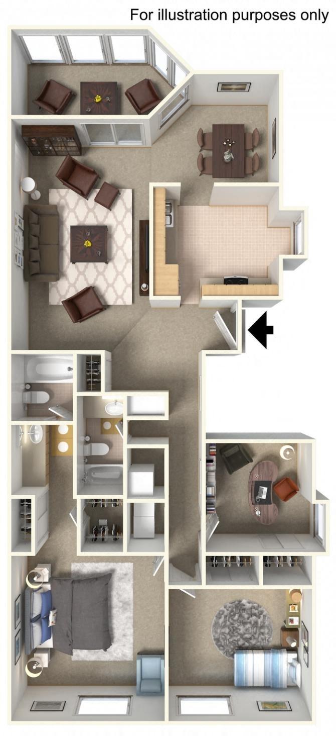floorplan C1 3 Bedroom