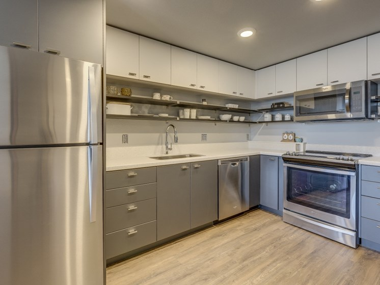 Portland OR Apartments for Rent - Goat Blocks Kitchen with Stainless Steel Appliances
