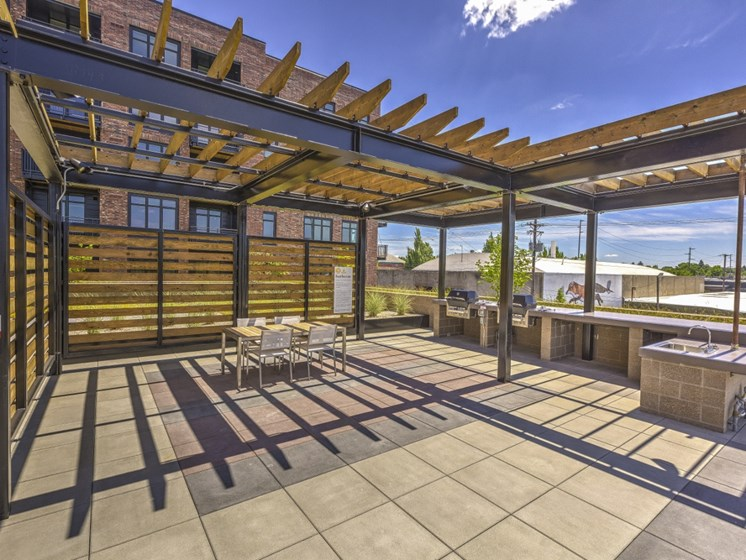 Apartments in Portland - Goat Blocks Rooftop Deck with BBQ Grills and a View