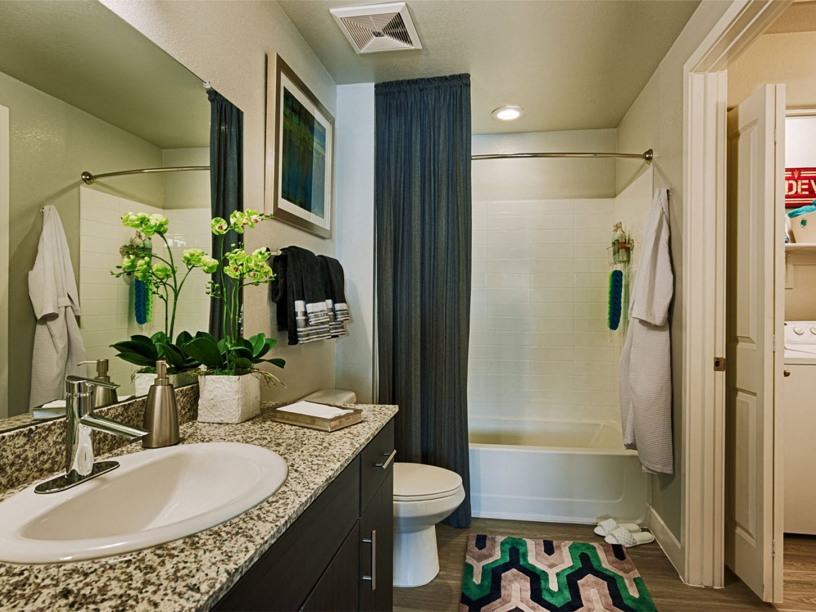 bathroom with updated materials