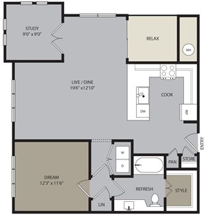 A4 Floor Plan at Ironwood at Red Rocks, Littleton, CO 80127