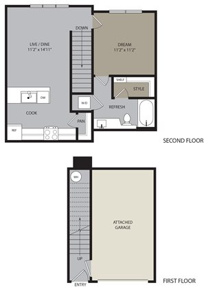 Carriage Floor Plan at Ironwood at Red Rocks, Littleton, CO