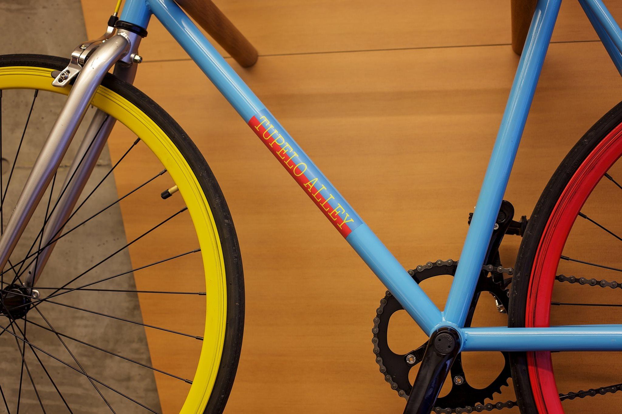 Bike Rack at Tupelo Alley Apartments near Portland, Oregon