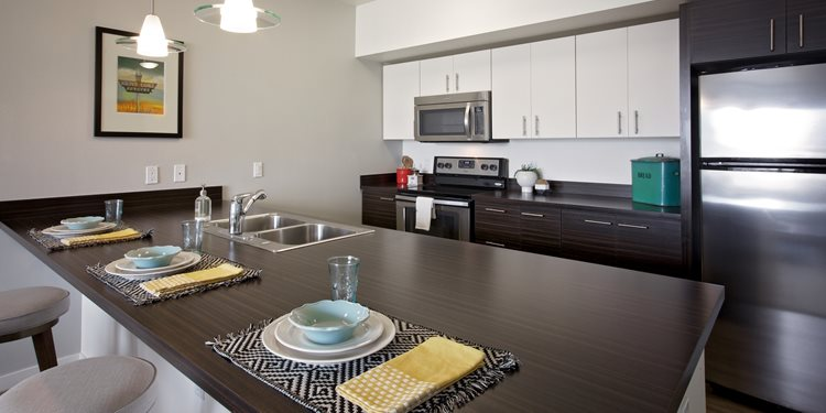 Modern Interiors and Finishes at Tupelo Alley Apartments in Portland, Oregon