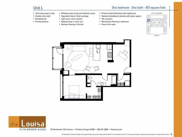 1 Bed 1 Bath (L) Floor Plan 8