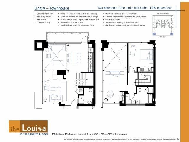 2 Bed 1.5 Bath (A) Floor Plan 15