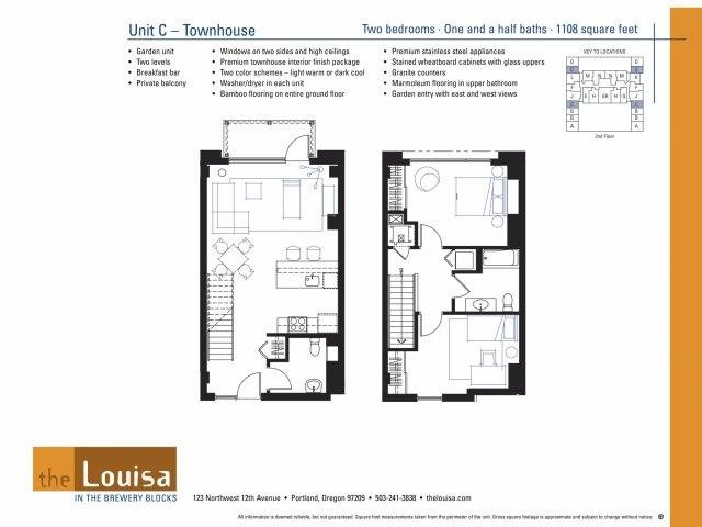 2 Bed 1.5 Bath (C) Floor Plan 13