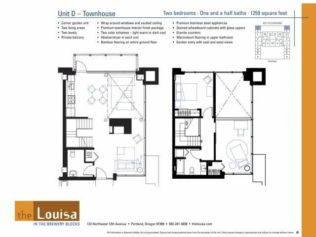 2 Bed 1.5 Bath (D) Floor Plan 14