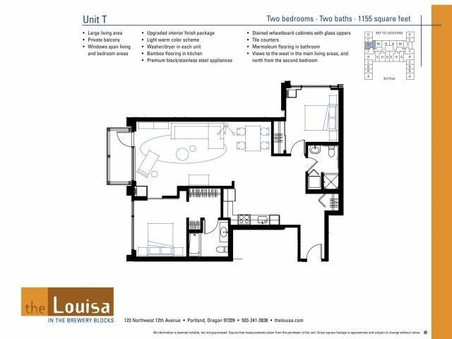 2 Bed 2 Bath (T) Floor Plan 19