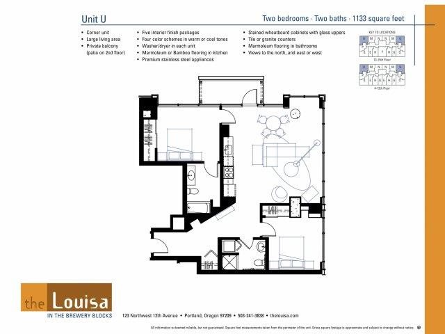 2 Bed 2 Bath (U) Floor Plan 17
