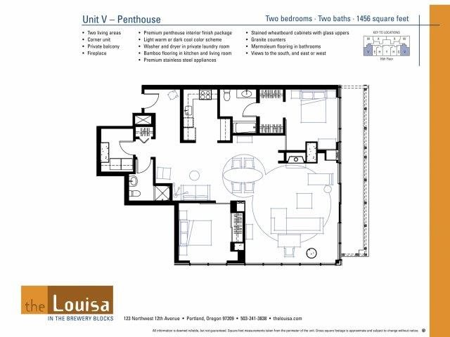 2 Bed 2 Bath (VPenthouse) Floor Plan 21