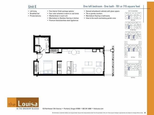 Studio (E) Floor Plan 3