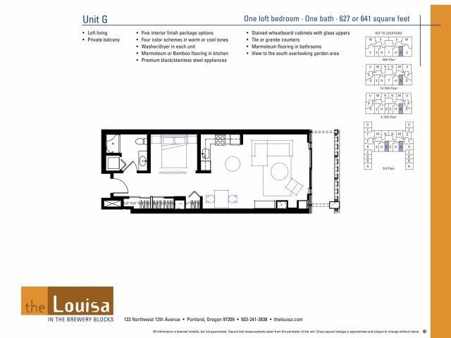 Studio (G) Floor Plan 1