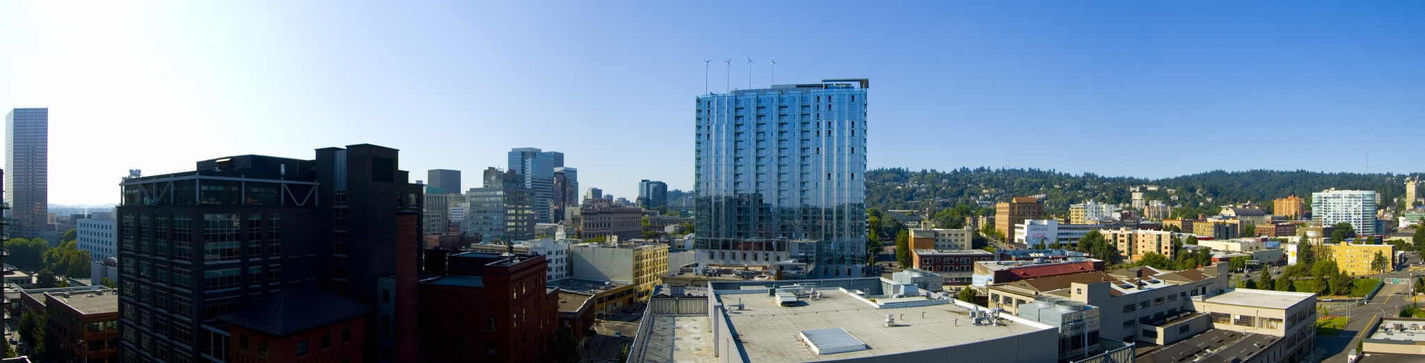 Balcony Panorama at The Louisa Apartments in Portland, Oregon