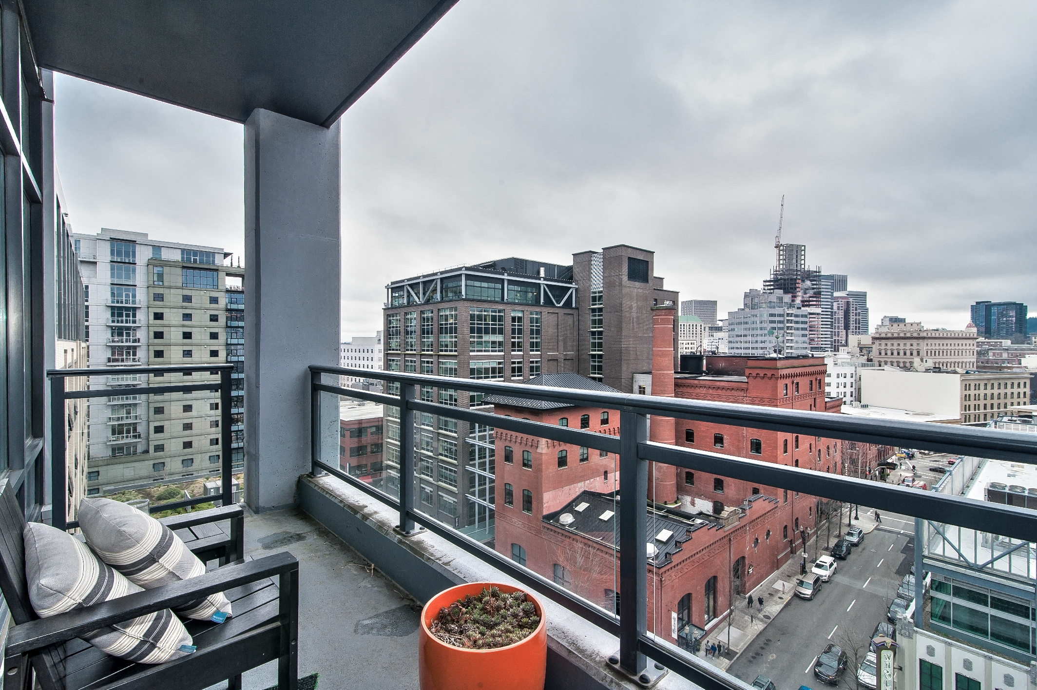 Balcony at The Louisa Apartments in Portland, Oregon