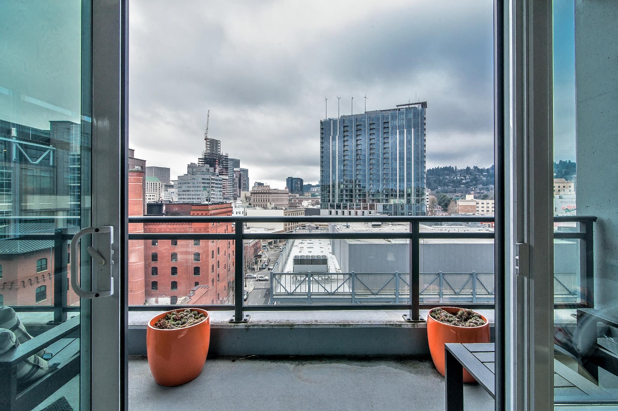 Balcony Views at The Louisa Apartments in Portland, Oregon