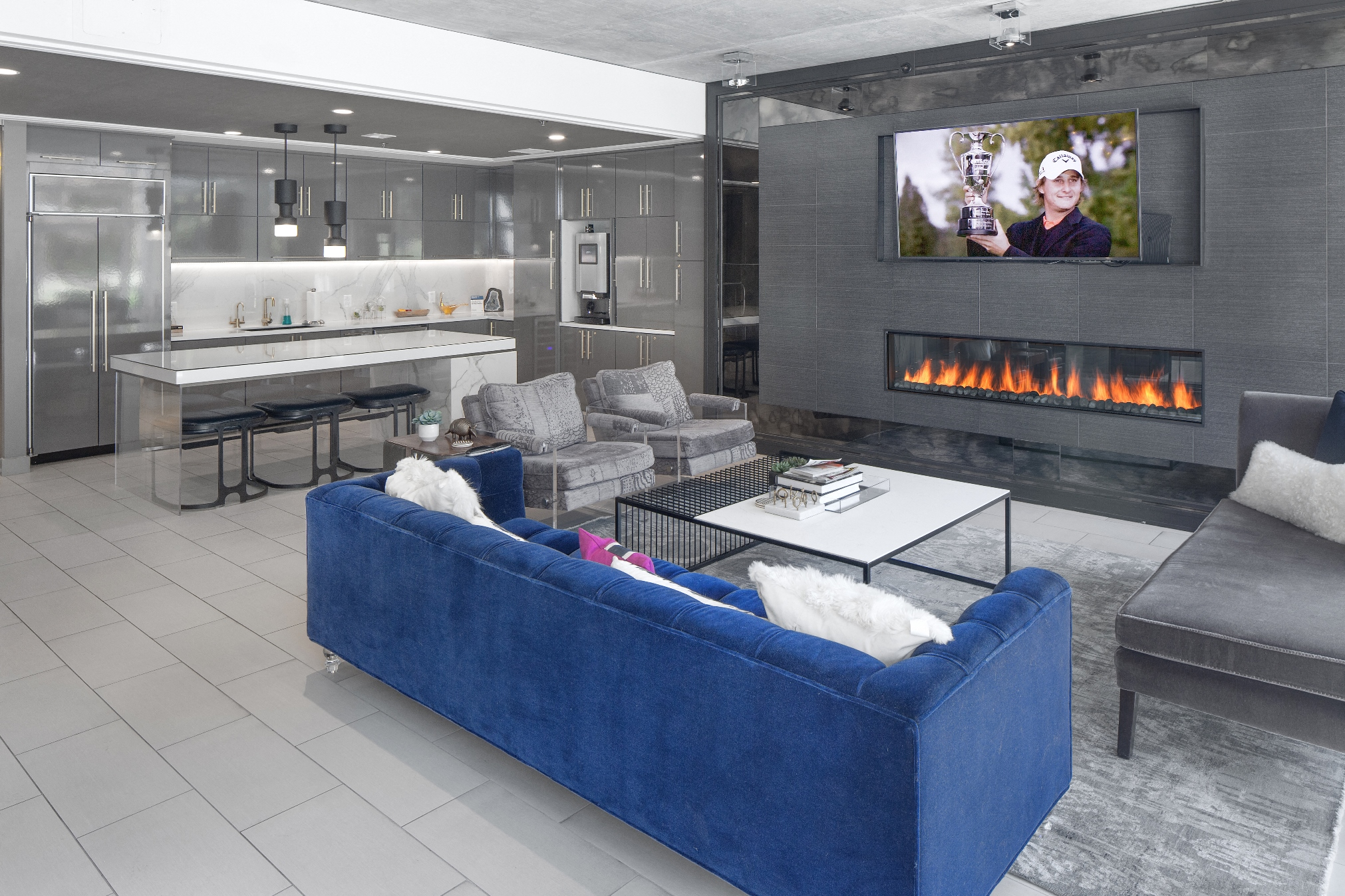 Entertainment Space at The Louisa Apartments in Portland, Oregon