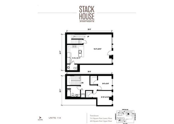 2bd/1.5ba + Den Floor Plan 9