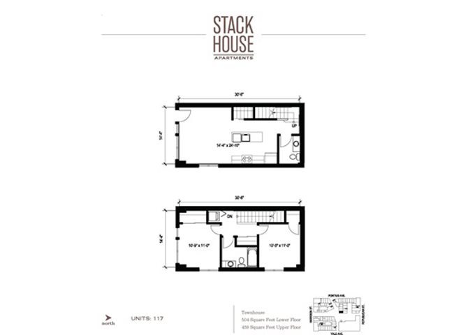 2bd/1.5ba Town Floor Plan 8