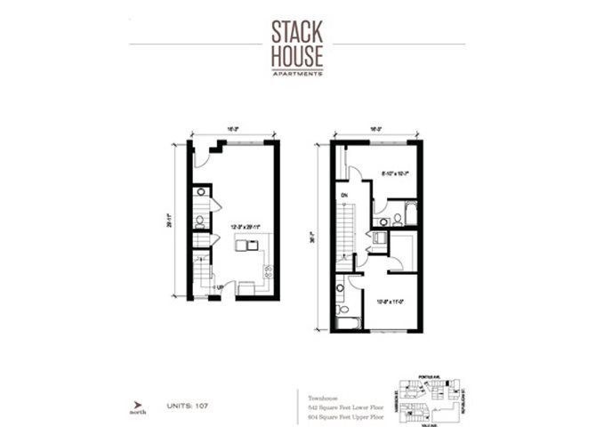2bd/2.5ba Town Floor Plan 12