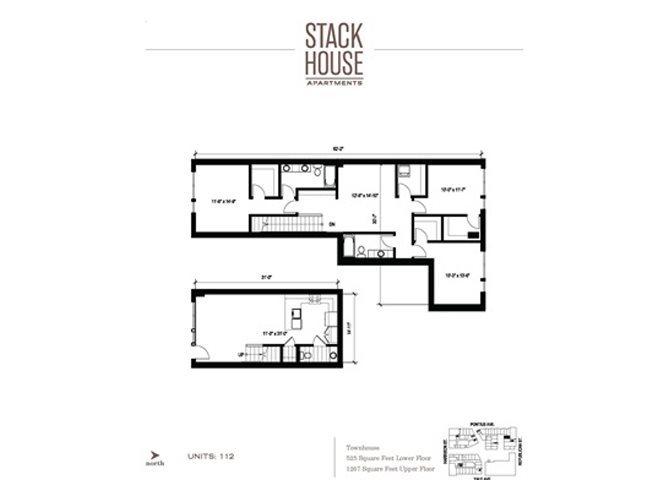 3bd/2.5ba + Den Floor Plan 15