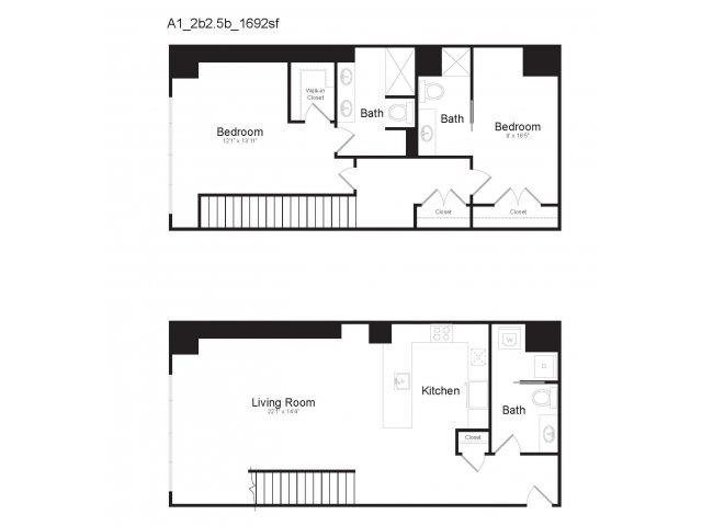 DUPLEX A1 Floor Plan 22