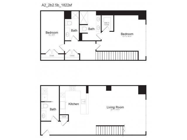 DUPLEX A2 Floor Plan 25
