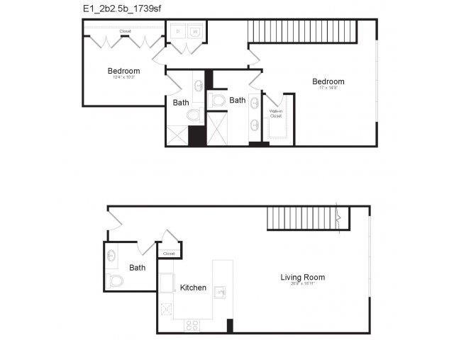 DUPLEX E1 Floor Plan 23