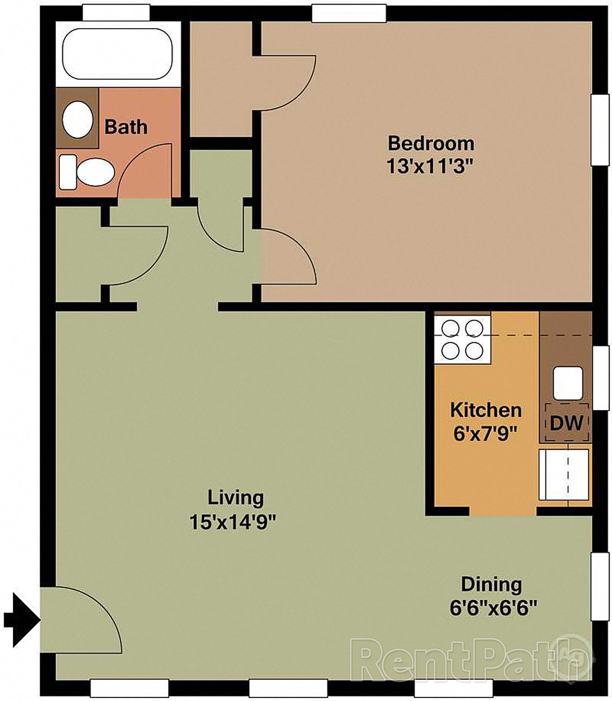 Shirlington Apartments: Floor Plans Of Clarendon Court In Arlington, VA