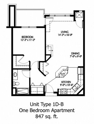 1 Bedroom D-B