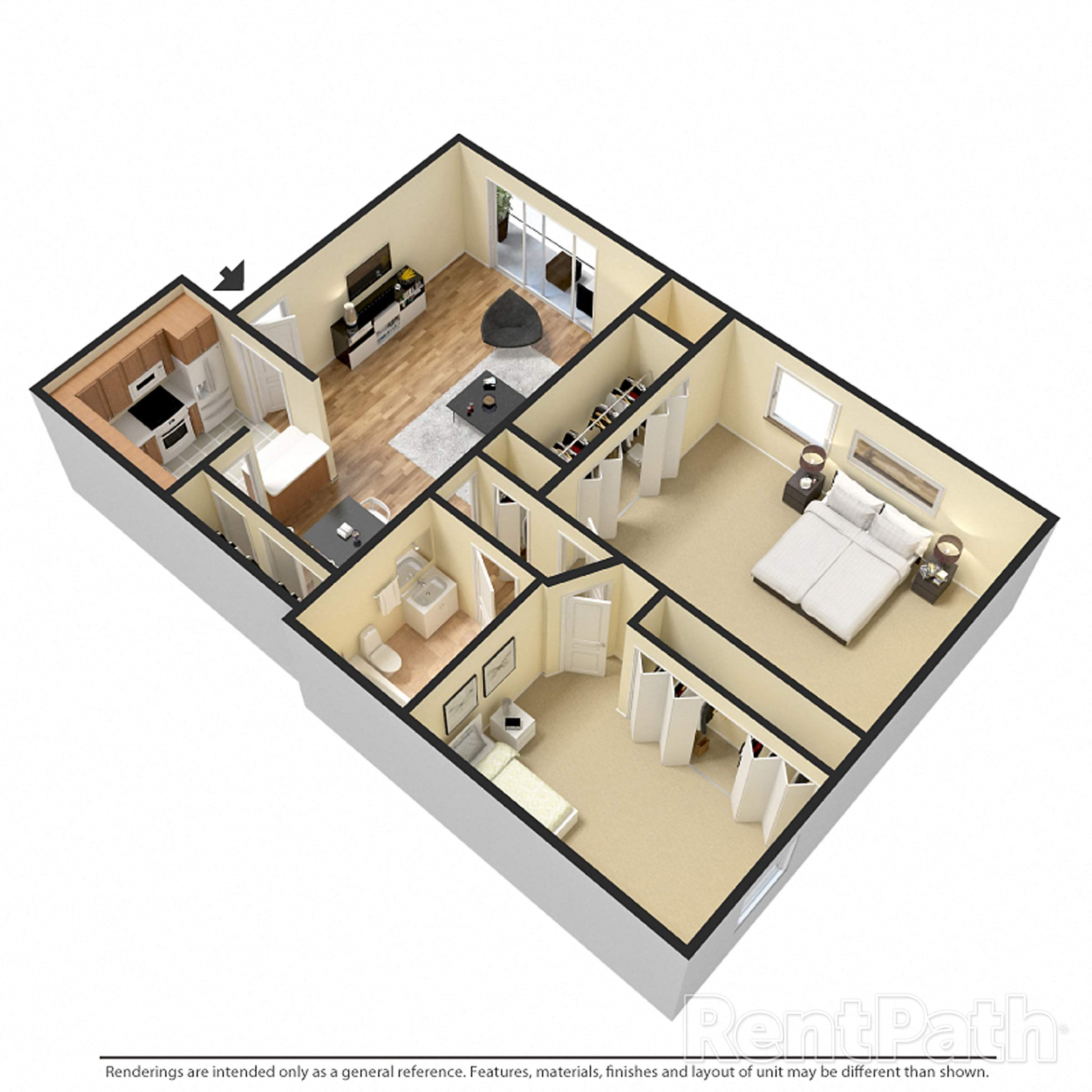 2 Bedroom Expanded Renovated Floor Plan 4