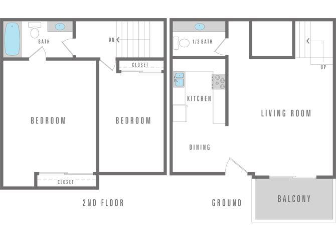 2 bedroom 1.5 bath