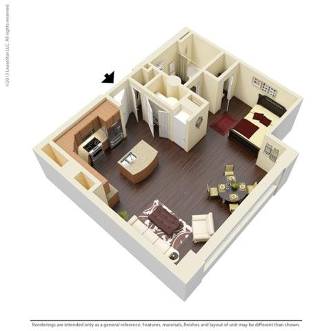 Studio 1 Floor Plan 1