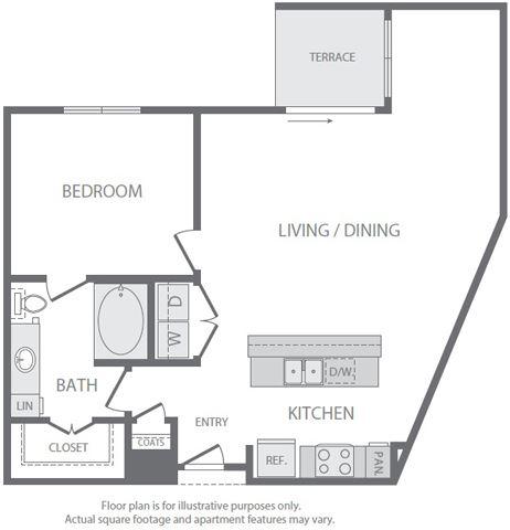 A11 Floorplan at Windsor South Lamar, Austin
