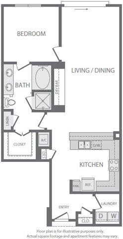 A13 Floorplan at Windsor South Lamar, Austin