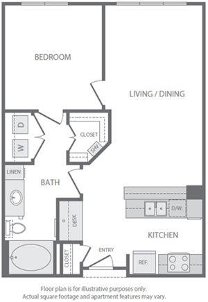 A3 Floorplan at Windsor South Lamar
