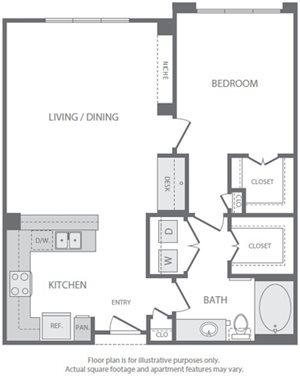 A8 Floorplan at Windsor South Lamar, Austin