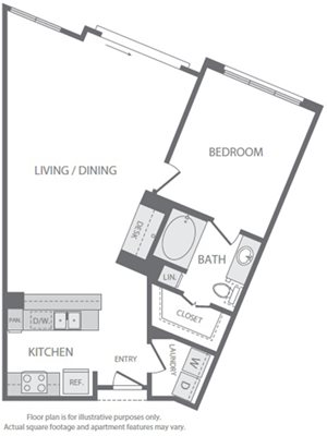 A9 Floorplan at Windsor South Lamar, Austin